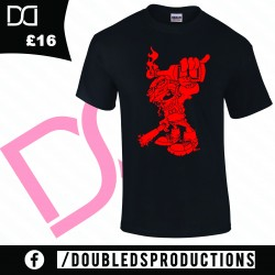 Double D'S productions Fire Red Logo T