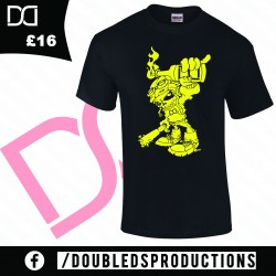 Double D'S productions Fire Yellow Logo T